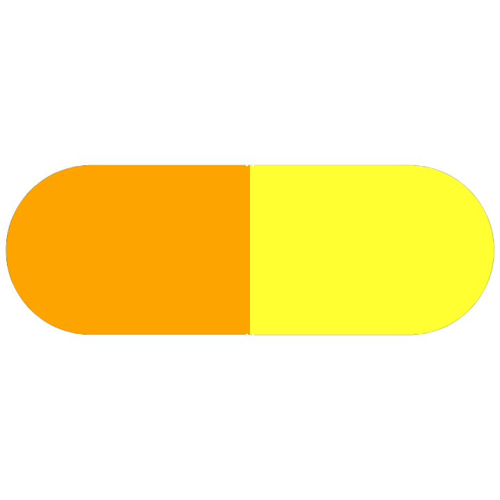 Pill Illustration: Tetracycline Hydrochloride 250mg (21695-302)